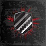 μαύρη ασπίδα Στοκ εικόνες με δικαίωμα ελεύθερης χρήσης