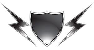 μαύρη ασπίδα διανυσματική απεικόνιση