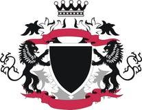 μαύρη ασπίδα λιονταριών grunge Στοκ Εικόνες