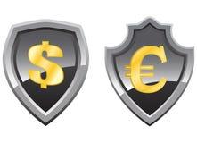 μαύρη ασπίδα χρημάτων Στοκ εικόνες με δικαίωμα ελεύθερης χρήσης