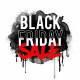 Μαύρη αφίσα, έμβλημα ή ιπτάμενο πώλησης Παρασκευής Στοκ φωτογραφίες με δικαίωμα ελεύθερης χρήσης