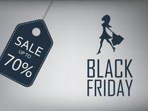 Μαύρη αφίσα πώλησης Παρασκευής Ειδικό πρότυπο προσφοράς Στοκ εικόνα με δικαίωμα ελεύθερης χρήσης
