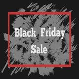 Μαύρη αφίσα πώλησης Παρασκευής με μια εγγραφή Στοκ Εικόνες
