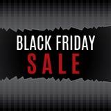 Μαύρη αφίσα πώλησης Παρασκευής Στοκ φωτογραφίες με δικαίωμα ελεύθερης χρήσης