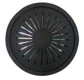 Μαύρη αφηρημένη πλαστική μορφή κύκλων με τον καθρέφτη insidie που απομονώνεται Στοκ εικόνες με δικαίωμα ελεύθερης χρήσης