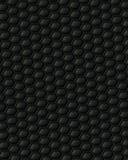 Μαύρη αφηρημένη τρισδιάστατη απεικόνιση υποβάθρου κυψελωτού πλέγματος Στοκ Φωτογραφία