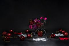 Μαύρη αφηρημένη φωτογραφία Παρασκευής Ευτυχής Χαρούμενα Χριστούγεννα Στοκ φωτογραφία με δικαίωμα ελεύθερης χρήσης