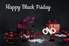 Μαύρη αφηρημένη φωτογραφία Παρασκευής Ευτυχής Χαρούμενα Χριστούγεννα Στοκ εικόνα με δικαίωμα ελεύθερης χρήσης