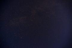 Μαύρη αφθονία νυχτερινού ουρανού των αστεριών με Στοκ Εικόνες