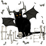 Μαύρη γάτα διαβόλων Στοκ φωτογραφία με δικαίωμα ελεύθερης χρήσης