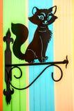 μαύρη γάτα διακοσμητική Στοκ Εικόνες