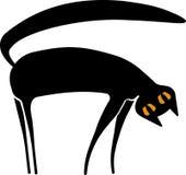 μαύρη γάτα κινούμενων σχεδίων Στοκ Εικόνα