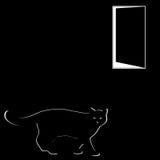 μαύρη γάτα Ελεύθερη απεικόνιση δικαιώματος