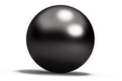 Μαύρη γεωμετρική σφαίρα μορφών Στοκ φωτογραφία με δικαίωμα ελεύθερης χρήσης