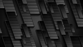 Μαύρη γεωμετρική τηλεοπτική ζωτικότητα τεχνολογίας απόθεμα βίντεο