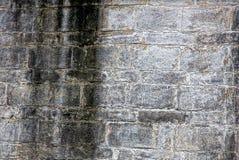 Μαύρη γκρίζα σύσταση από τα τούβλα του τοίχου σπιτιών Στοκ φωτογραφία με δικαίωμα ελεύθερης χρήσης