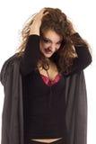 μαύρη γυναίκα κοστουμιών Στοκ Φωτογραφία