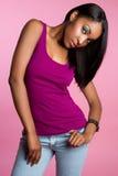 μαύρη γυναίκα μόδας στοκ εικόνες