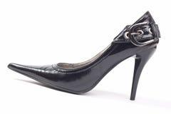 μαύρη γυναίκα παπουτσιών τ&a Στοκ φωτογραφία με δικαίωμα ελεύθερης χρήσης