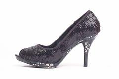μαύρη γυναίκα παπουτσιών τ&a Στοκ Εικόνα