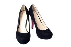μαύρη γυναίκα παπουτσιών Στοκ Φωτογραφίες