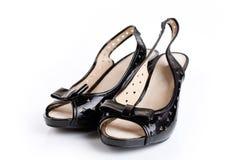 μαύρη γυναίκα παπουτσιών Στοκ φωτογραφίες με δικαίωμα ελεύθερης χρήσης