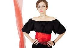 μαύρη γυναίκα φορεμάτων Στοκ εικόνες με δικαίωμα ελεύθερης χρήσης