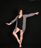 μαύρη γυναίκα χορευτών αν&alph Στοκ φωτογραφία με δικαίωμα ελεύθερης χρήσης