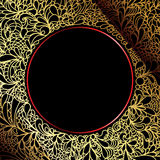 μαύρη διακοσμητική χρυσή πολυτέλεια ανασκόπησης περίκομψη Στοκ Φωτογραφίες