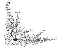 μαύρη διακόσμηση λουλο&upsilo απεικόνιση αποθεμάτων