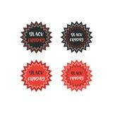 Μαύρη διανυσματική απεικόνιση διακριτικών πώλησης Παρασκευής Στοκ φωτογραφία με δικαίωμα ελεύθερης χρήσης