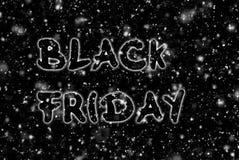 Μαύρη διαφήμιση Παρασκευής χειρόγραφη στο σκοτεινό υπόβαθρο στοκ φωτογραφία με δικαίωμα ελεύθερης χρήσης