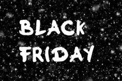 Μαύρη διαφήμιση Παρασκευής χειρόγραφη στο σκοτεινό υπόβαθρο στοκ εικόνες