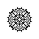 Μαύρη εκλεκτής ποιότητας διακοσμητική διακόσμηση mandala λουλουδιών σκιαγραφιών αφηρημένη διανυσματική απεικόνιση