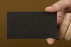 μαύρη επαγγελματική κάρτα Στοκ φωτογραφία με δικαίωμα ελεύθερης χρήσης