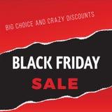 Μαύρη επιγραφή πώλησης Παρασκευής Στοκ Εικόνα