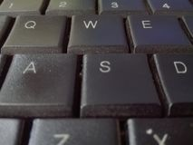 Μαύρη επιστολή υπολογιστών ομορφιάς keybord στοκ φωτογραφία με δικαίωμα ελεύθερης χρήσης