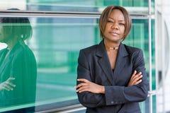 μαύρη επιχειρησιακή γυναί& Στοκ Φωτογραφία