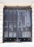 Μαύρη λεπτομέρεια πορτών μετάλλων περίκομψη Στοκ Εικόνες