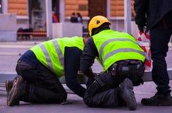 μαύρη εργασία πορτρέτου κλάσης φρικτή απομονωμένη Στοκ εικόνες με δικαίωμα ελεύθερης χρήσης