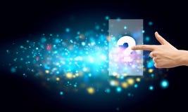 μαύρη ερώτηση εικονιδίων κουμπιών bector Στοκ φωτογραφία με δικαίωμα ελεύθερης χρήσης
