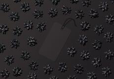 Μαύρη ετικέτα τιμών Παρασκευής για τα πρότυπα πώλησης ή προώθησης Στοκ Εικόνα