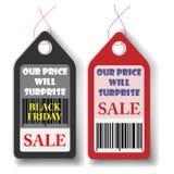 Μαύρη ετικέττα πωλήσεων Παρασκευής επίσης corel σύρετε το διάνυσμα απεικόνισης Στοκ φωτογραφίες με δικαίωμα ελεύθερης χρήσης