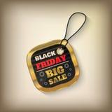 Μαύρη ετικέττα πωλήσεων Παρασκευής Στοκ φωτογραφία με δικαίωμα ελεύθερης χρήσης
