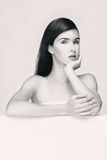 μαύρη λευκή γυναίκα πορτρέ Στοκ φωτογραφία με δικαίωμα ελεύθερης χρήσης