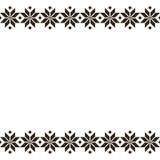 Μαύρη λευκορωσική ιερή εθνική διακόσμηση, άνευ ραφής σχέδιο επίσης corel σύρετε το διάνυσμα απεικόνισης Σλοβένικη παραδοσιακή δια Στοκ Φωτογραφίες