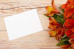 Μαύρη ευχετήρια κάρτα Στοκ Εικόνες