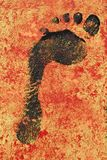 μαύρη ζωγραφική ίχνους Στοκ φωτογραφίες με δικαίωμα ελεύθερης χρήσης