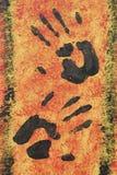 μαύρη ζωγραφική χεριών Στοκ Φωτογραφίες
