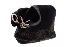 Μαύρη θηλυκή τσάντα Στοκ εικόνα με δικαίωμα ελεύθερης χρήσης